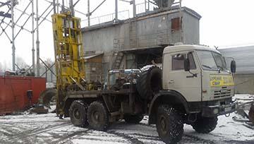 Буровая установка ЛБУ-50 на шасси КАМАЗ 43118 для бурения скважин, устройства БНС